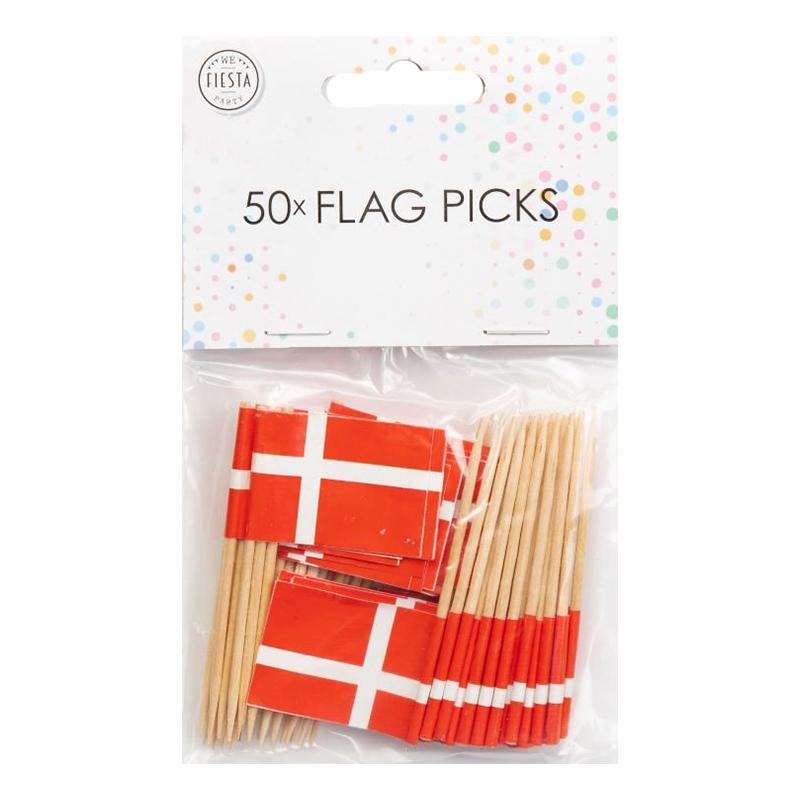 Partypicks Danmark - 50-pack