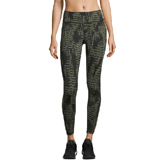 Iconic Printed 7/8 Tights, Survive Dark Green