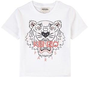 Kenzo White Branded Tiger Print Tee 2 år