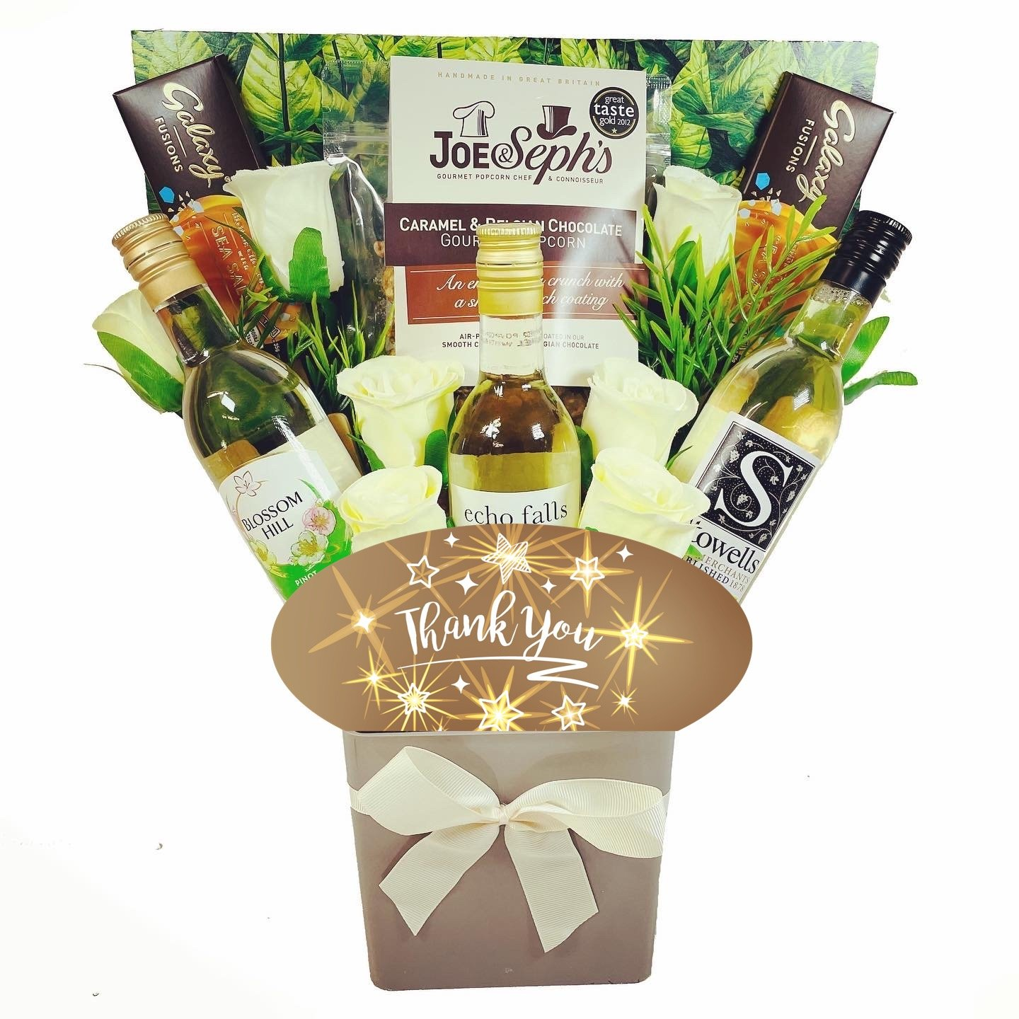 The Thank You White Wine & Chocolates Bouquet