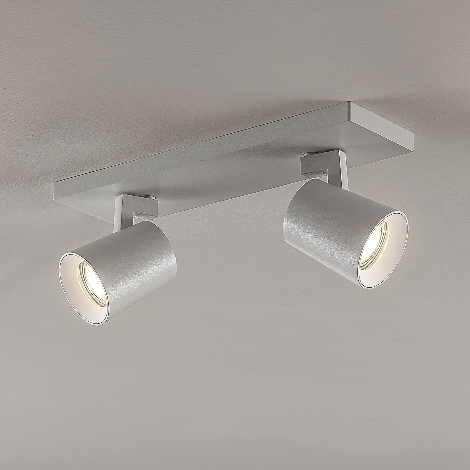 Arcchio Iavo-spotti kulmikas, valkoinen, 2 lamppua