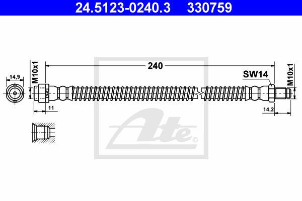 Jarruletku ATE 24.5123-0240.3