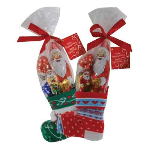 Julstrumpa med Chokladfigurer