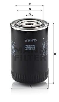 Öljynsuodatin MANN-FILTER W 940/35