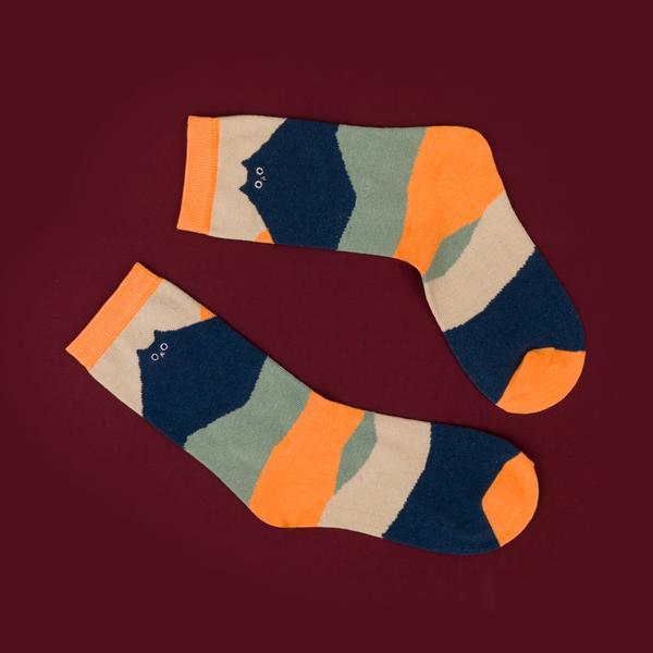 Cat Landscape Socks
