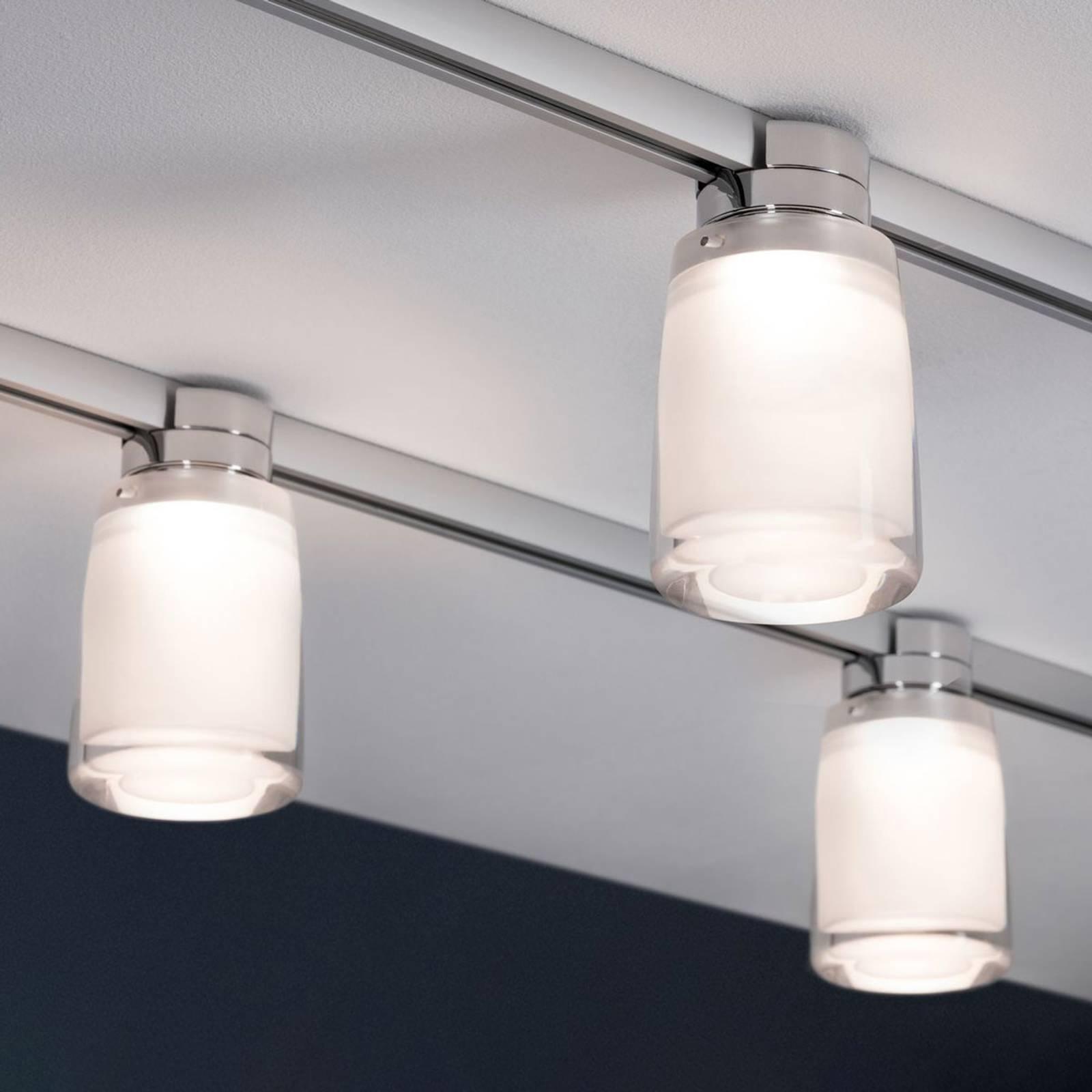 Paulmann URail Safira -LED-spotti akryylivarjostin