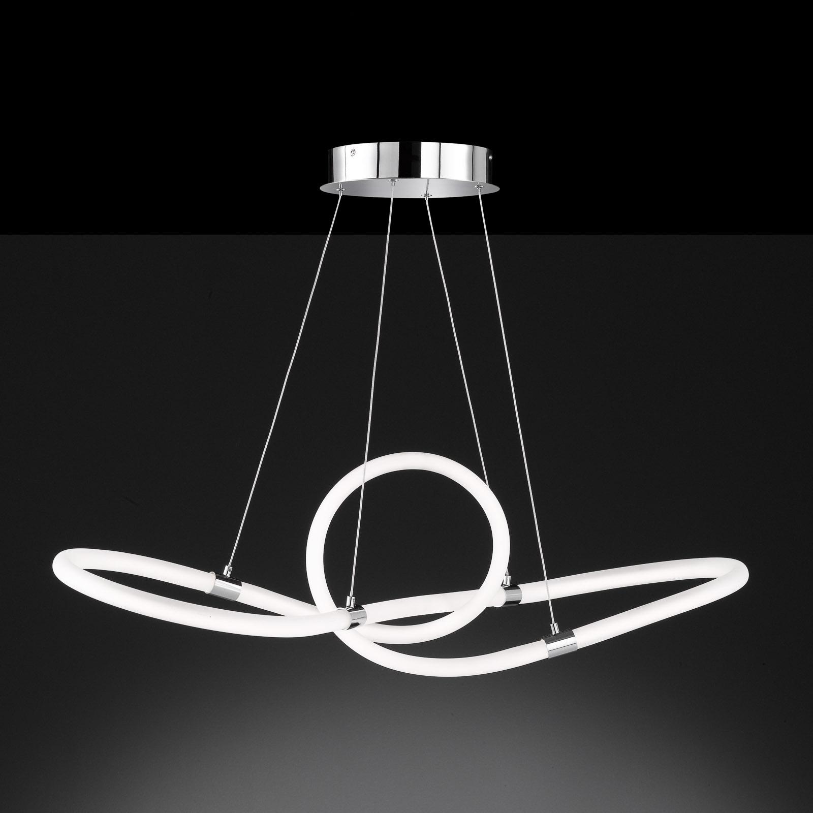 LED-riippuvalaisin Mira, kaukosäädin 92,5x30,5 cm