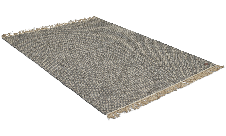 Boden grå - håndvevd ullteppe