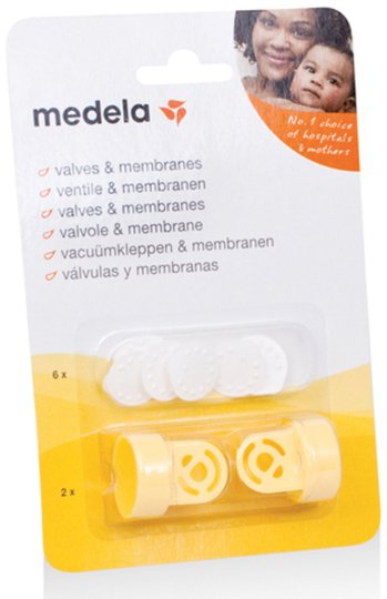 Medela 2 Ventiler + 6 Membran
