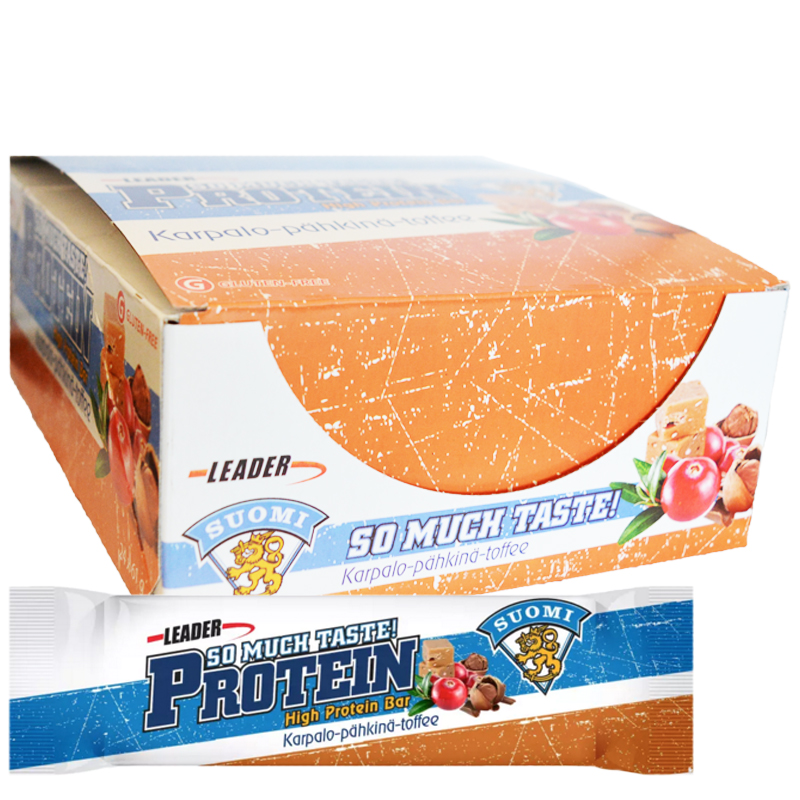 "Hel Låda Proteinbars ""Cranberry & Nuts"" 24 x 61g - 67% rabatt"
