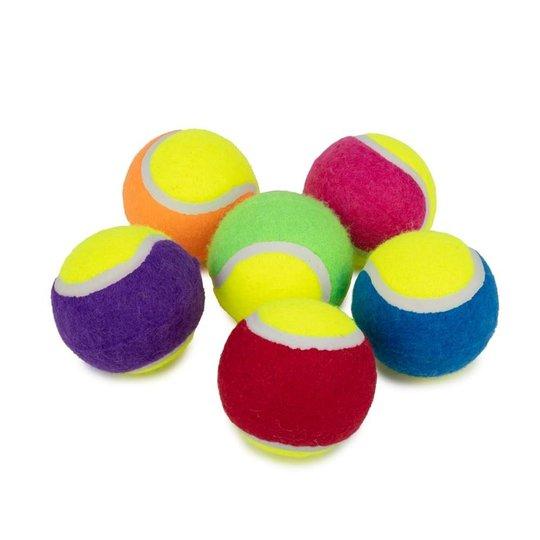 Little&Bigger Tennisbollar Flerfärgade 6-pack