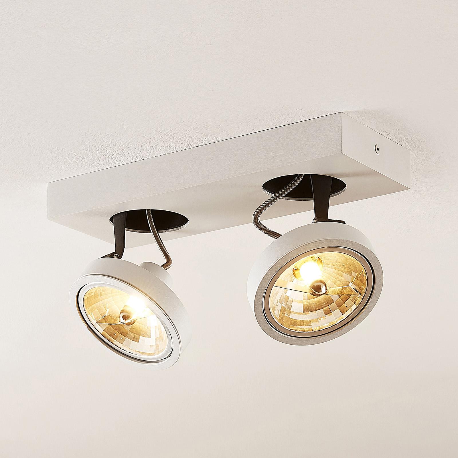 Arcchio Jorvin -kattospotti, 2-lamp., valkoinen