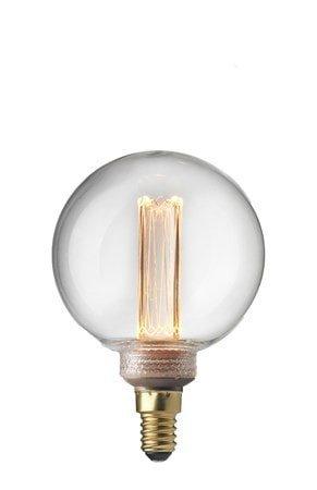Lyspære E14 Laser LED Filament Globe 80 mm Klar 2,3W