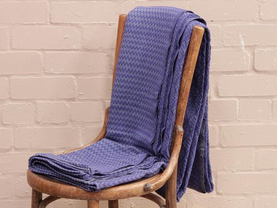 Indigo Geometric Handloomed Blanket Large