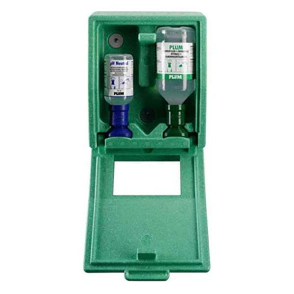 Plum Combibox Silmien huuhteluasema 200 ml pH neutraali ja 500 ml silmähuuhde