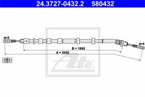 Vaijeri, käsijarru, Taakse, vasen, MERCEDES-BENZ M-KLASS [W163], 163 420 07 85, A 163 420 07 85