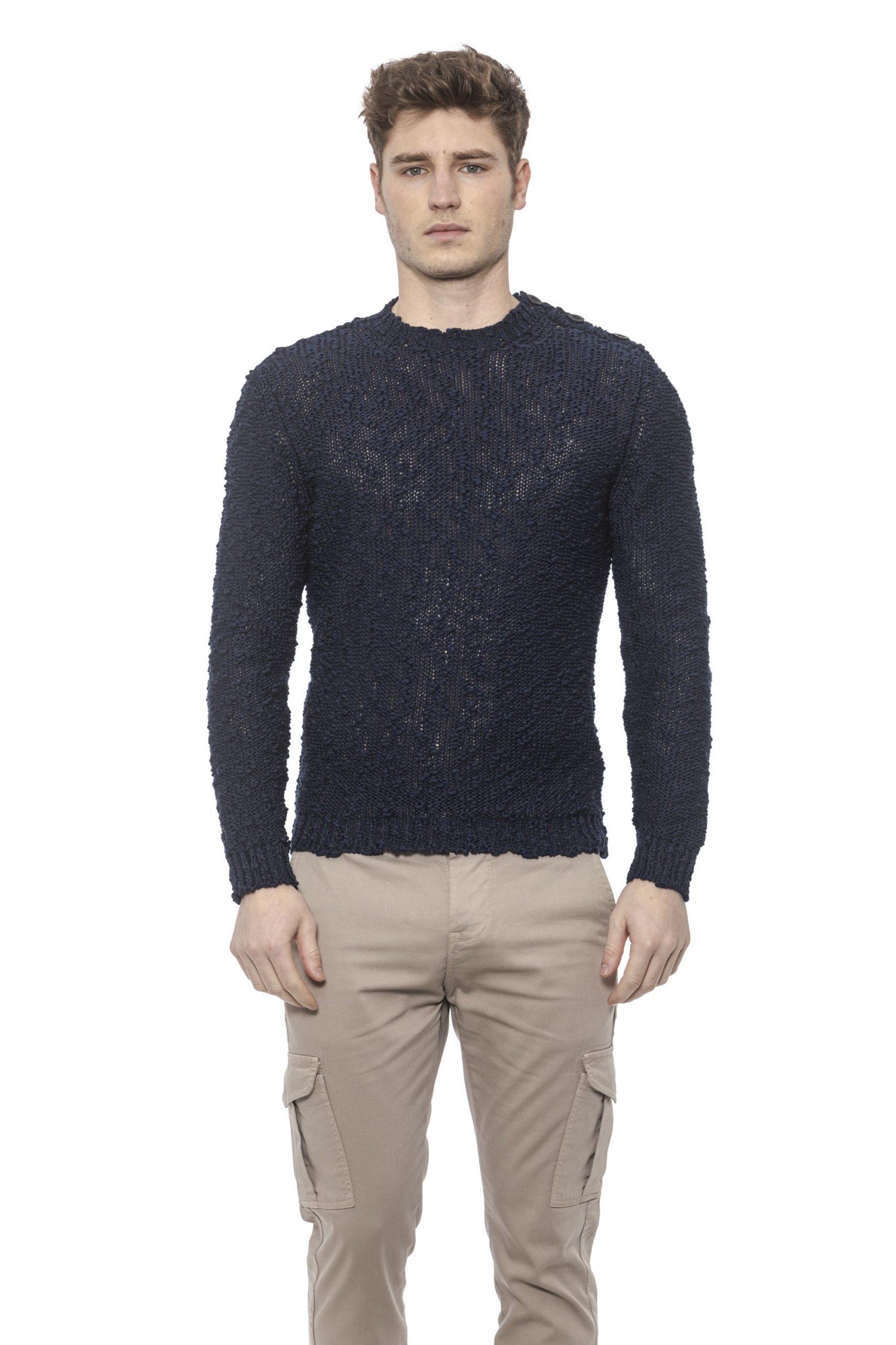 Alpha Studio Men's Sweater Blue AL1374488 - IT48   M