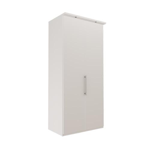 Garderobe Atlanta - Hvit 236 cm, Med gesims, Venstre