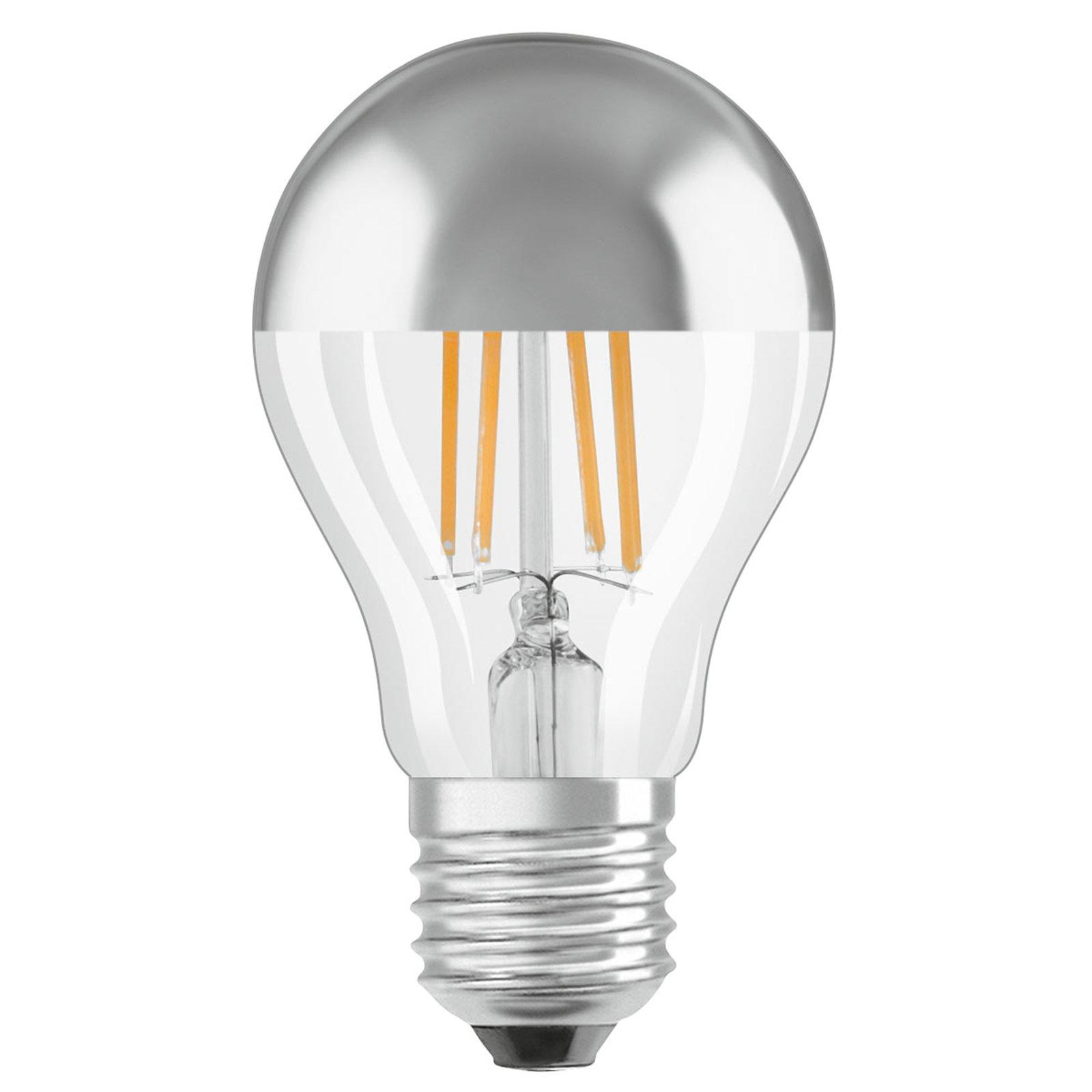 OSRAM LED-pære E27 Mirror Silver 4 W varmhvit