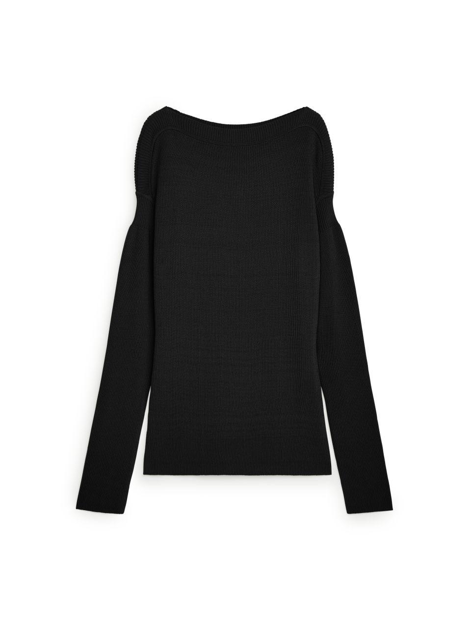 Puff Sleeve Jumper - Black