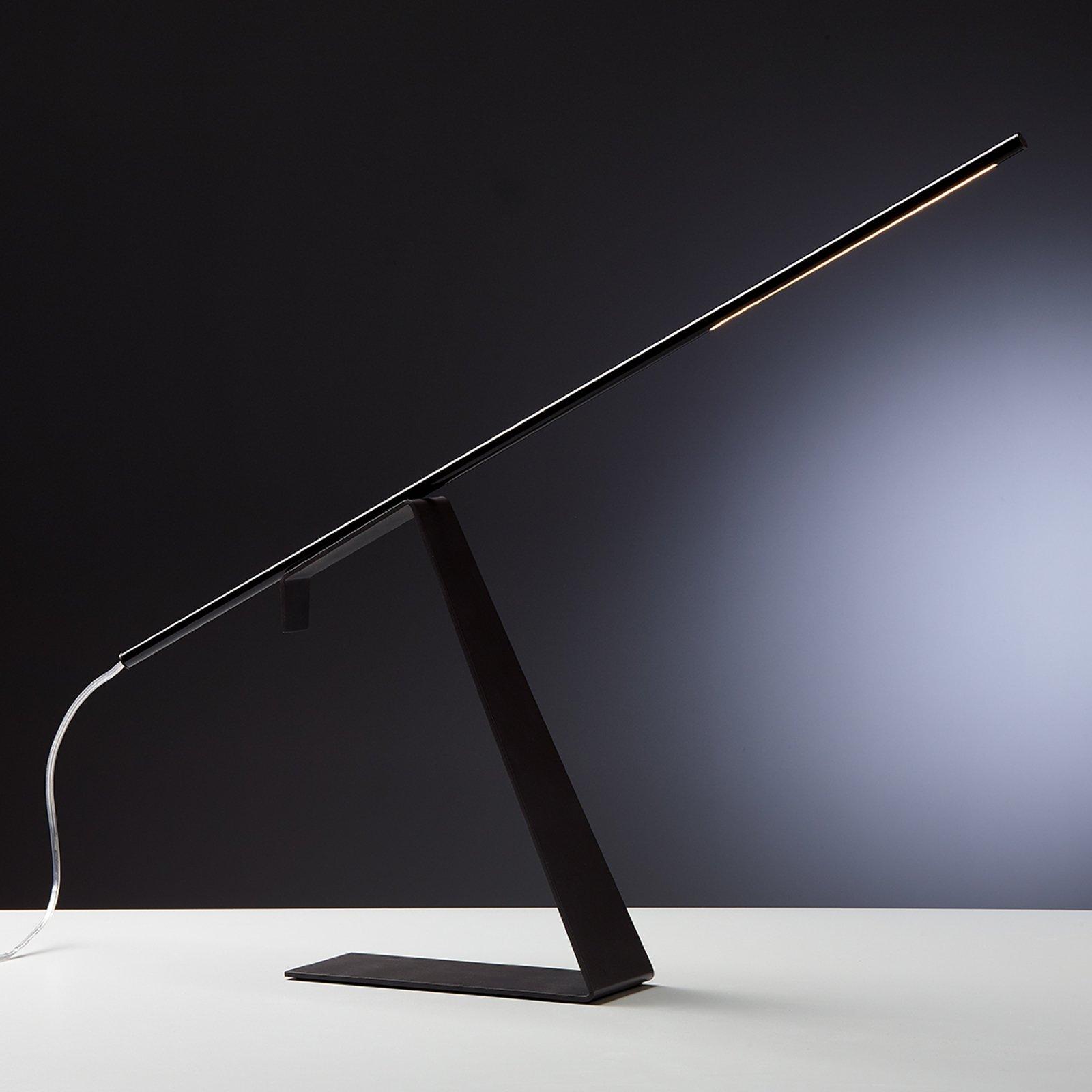 Jella svart LED designerbordlampe