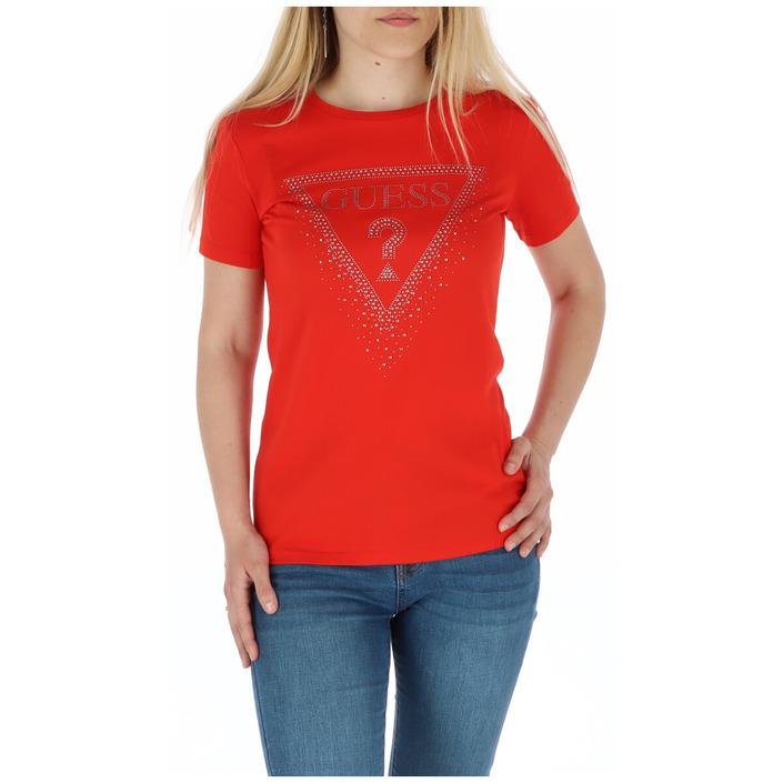 Guess Women's T-Shirt Various Colours 258488 - red S
