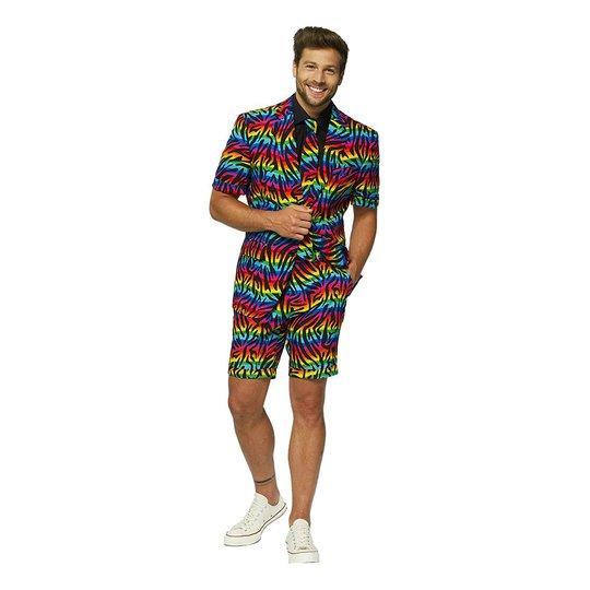 OppoSuits Wild Rainbow Shorts Kostym - 46