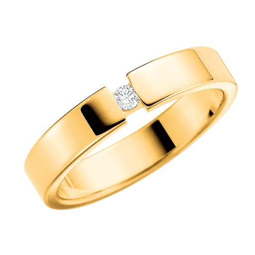 Diamantring i 18K guld, 69
