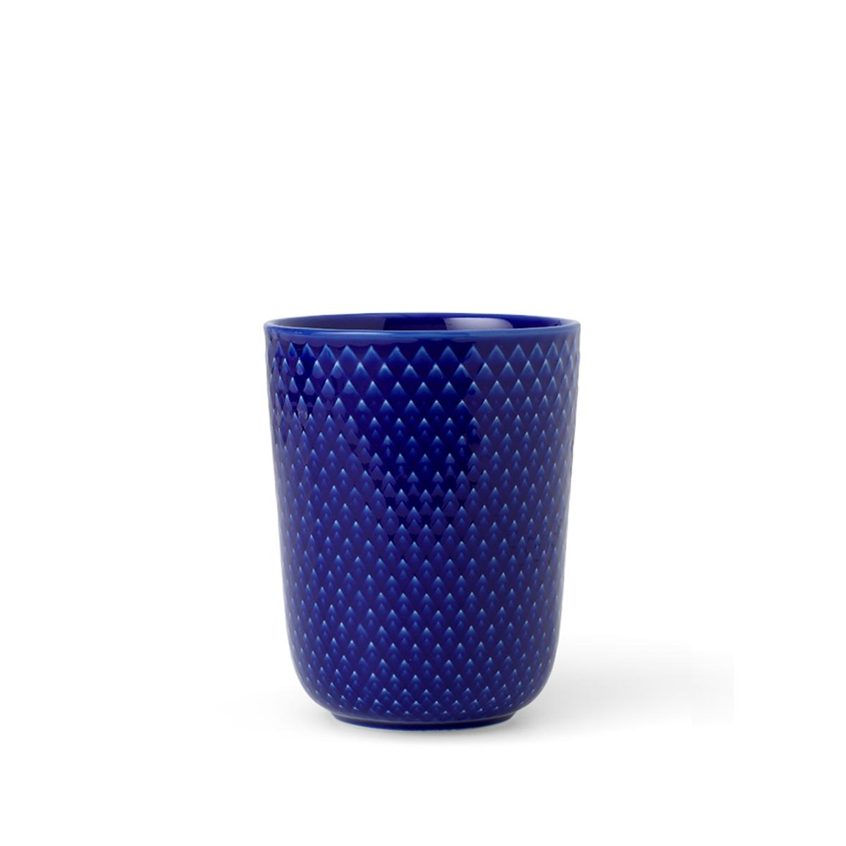 Lyngby Porcelæn - Rhombe Mug 33 cl - Dark Blue (201966)