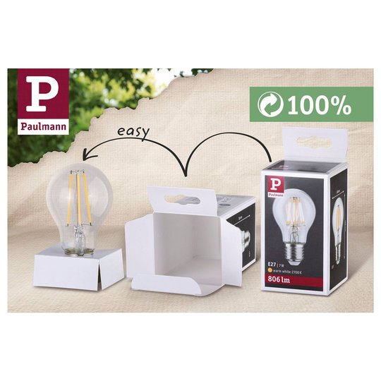 Paulmann-LED-lamppu E27 7,5W 865 806 lm himmennys