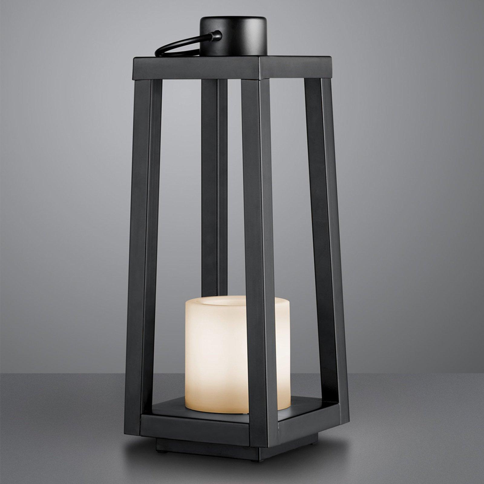 LED-sol-gulvlampe Loja med flammeeffekt