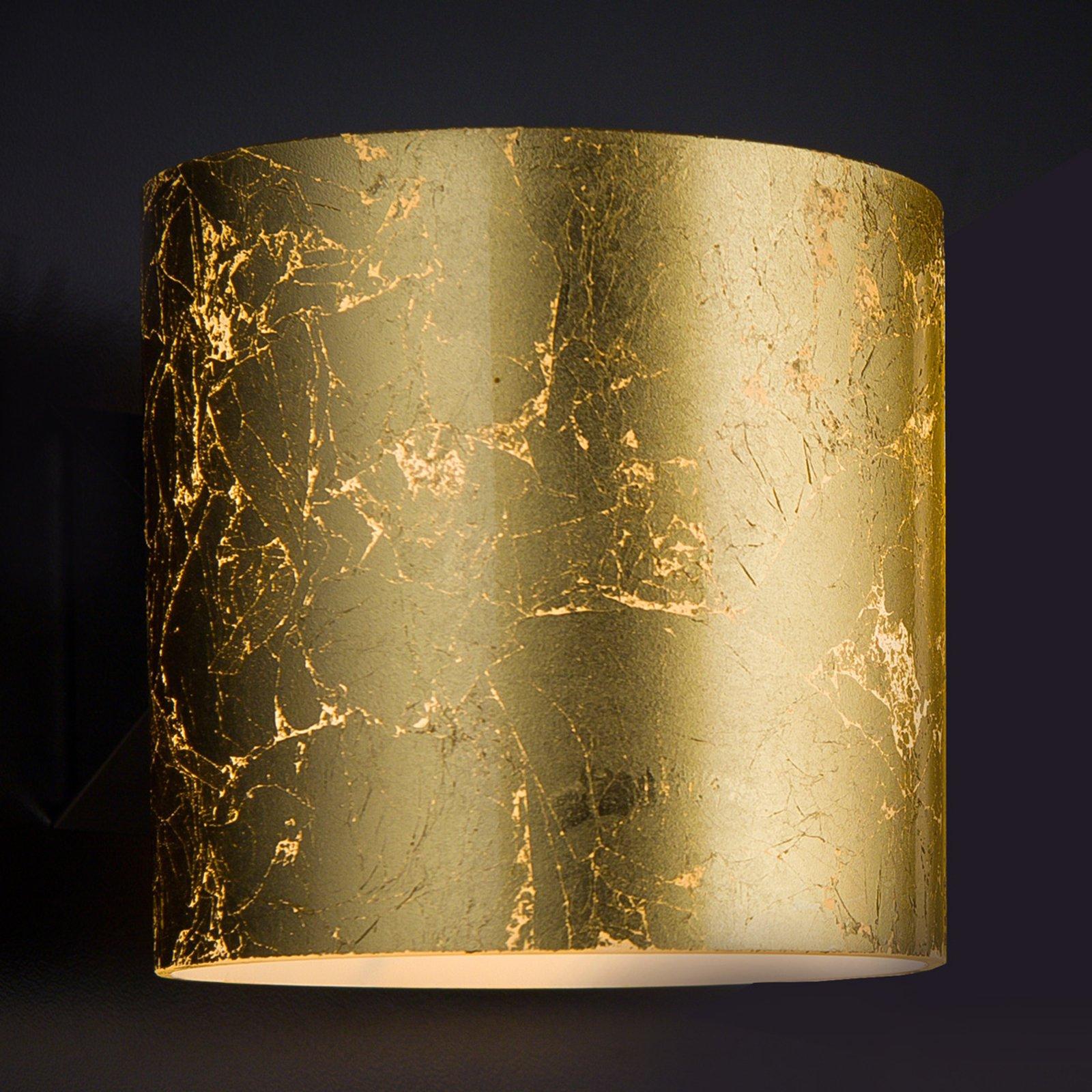 Brick gylden designer-vegglampe, 1 lyskilde