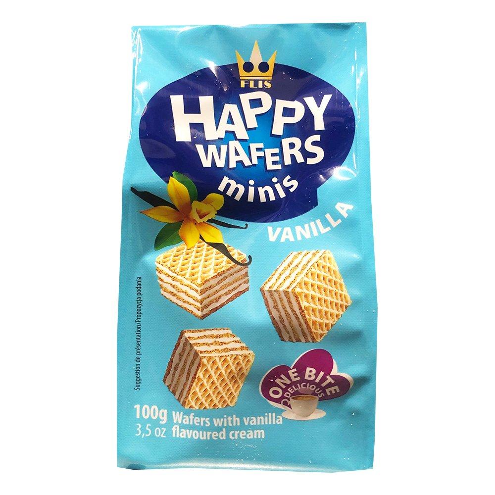 Happy Wafers Minis Vanilj - 100 gram