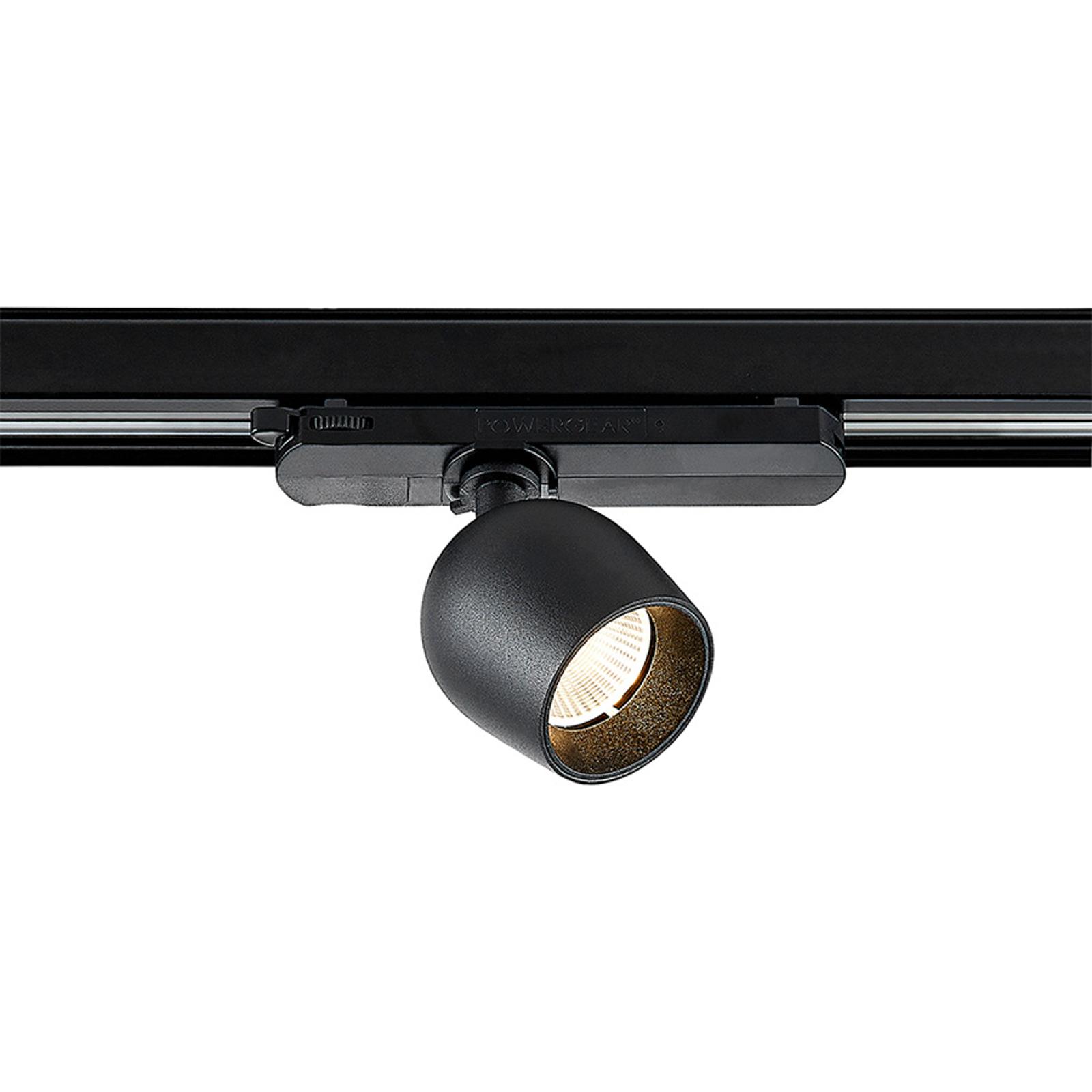 Arcchio Bartu -LED-kiskovalo, musta 3 000 K