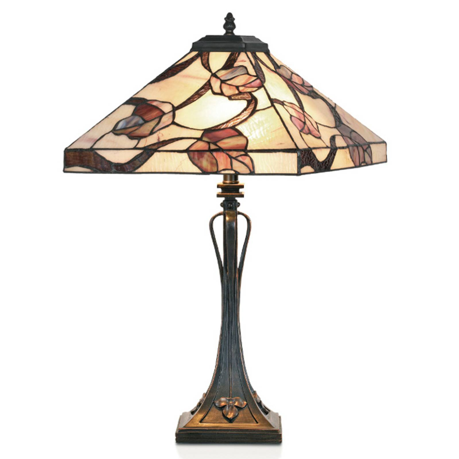 APPOLONIA bordlampe i Tiffany-stil