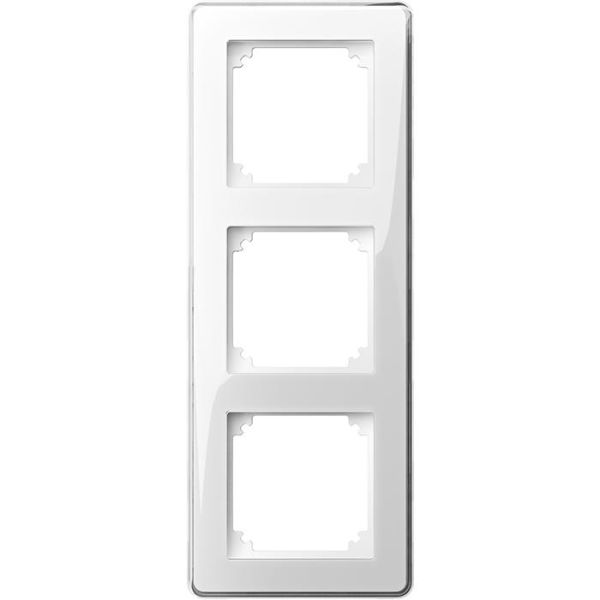 Schneider Electric Exxact Design Kehys läpinäkyvä, koristeellinen upotus 3-lokeroinen
