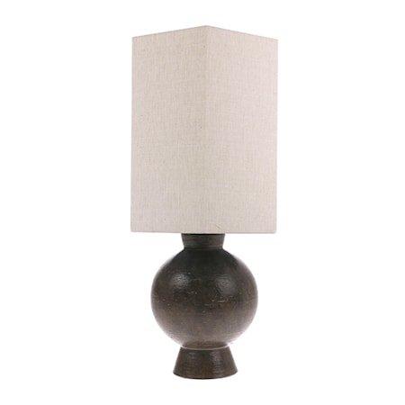 Hexagon Lampeskjerm Linnen M Natural