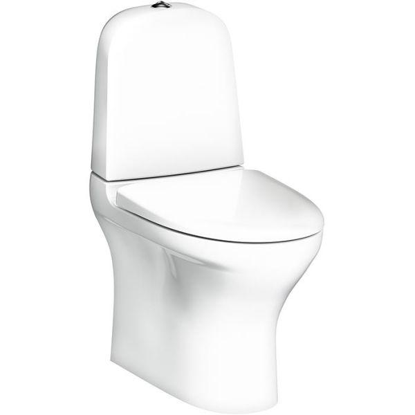 Gustavsberg Estetic 8300 Toalettstol med hardt sete, hvit