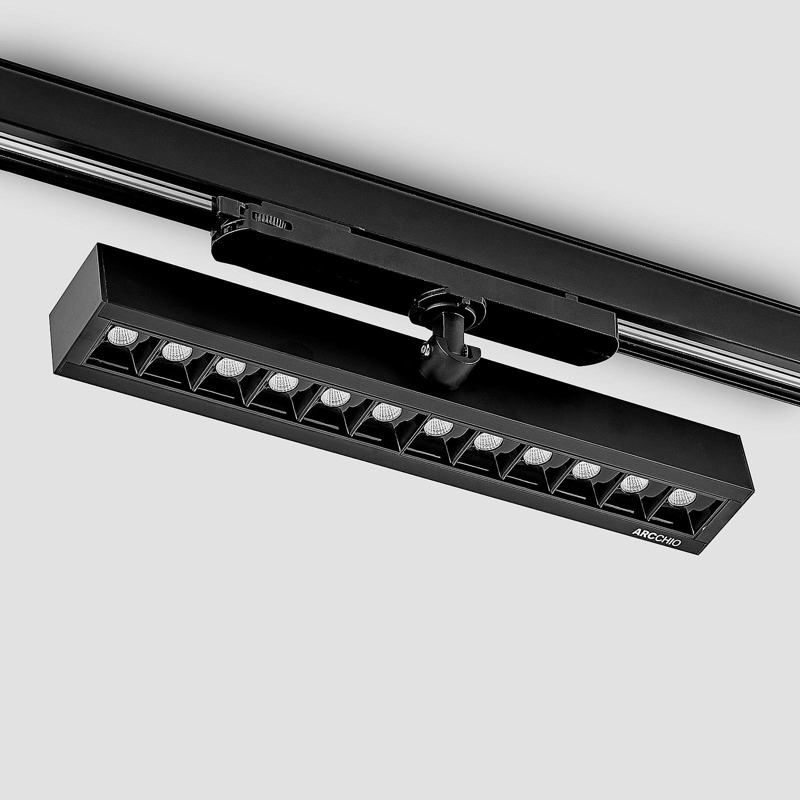 Arcchio Millay -LED-kiskokohdevalo, musta 4 000 K