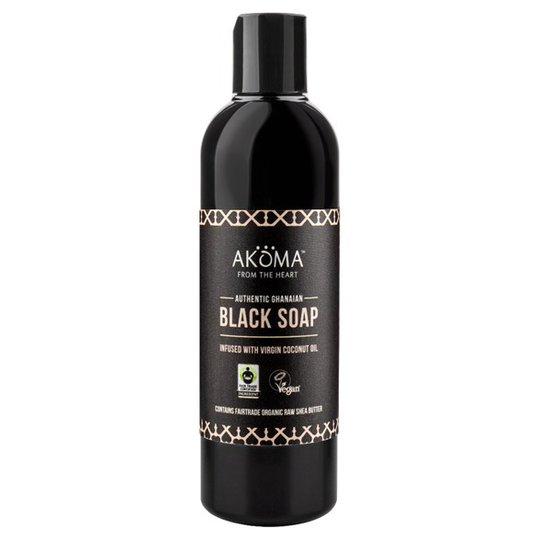 Akoma Liquid Black Soap with Organic Raw Shea Butter