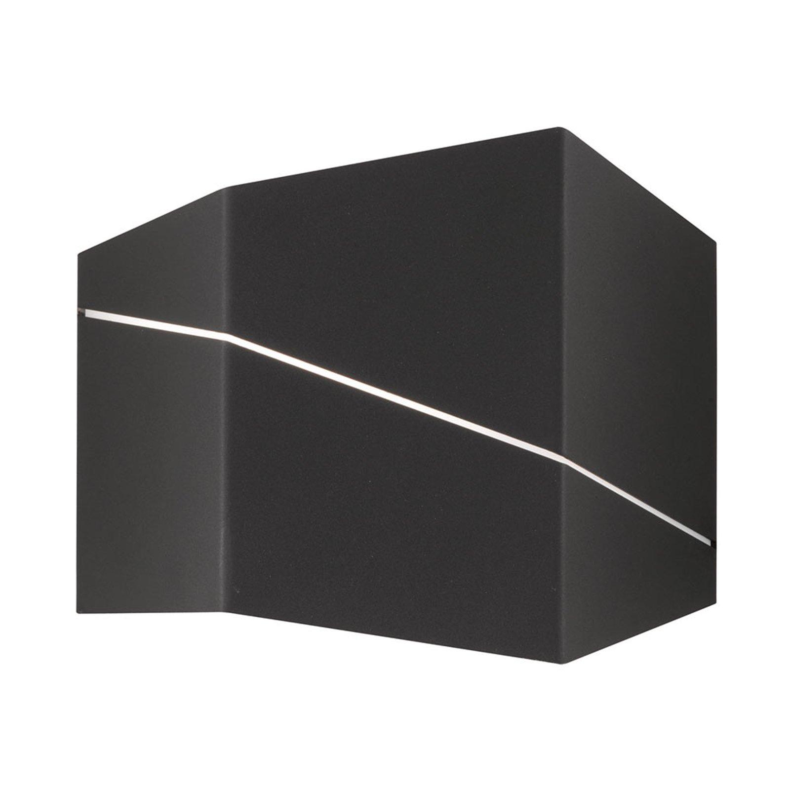 Zorro - moderne LED-vegglampe, svart matt, 18 cm