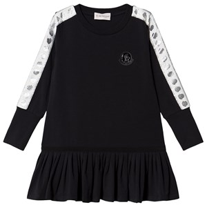Moncler Logo and Tape Branded Dress Black 4 years