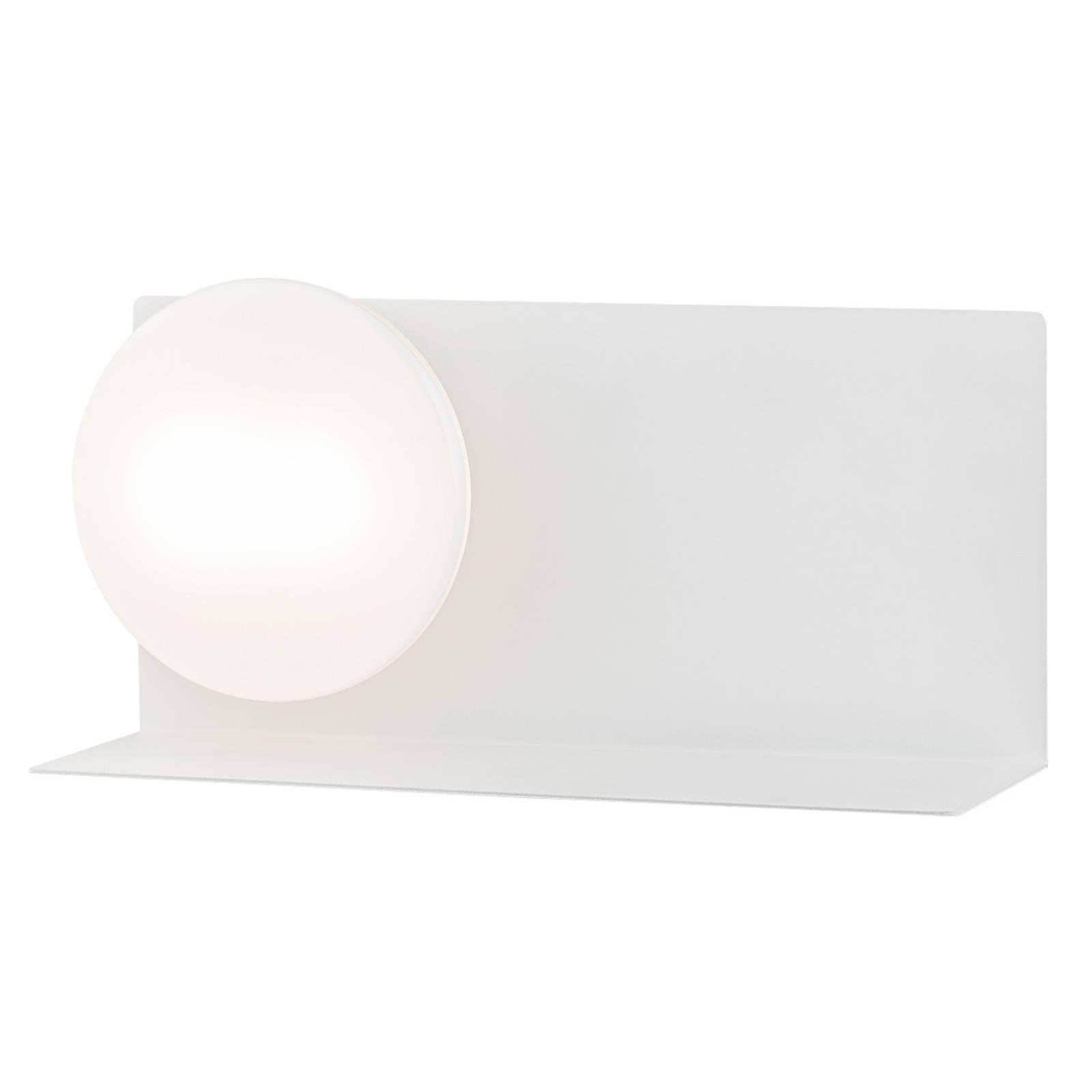 LED-seinälamppu Clark lasivarjostimella, valkoinen