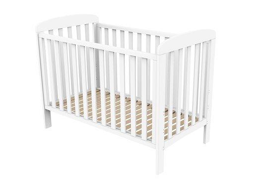 Baby Dan - Sofie Cot Bed w. Drop Side 60x120 cm - White