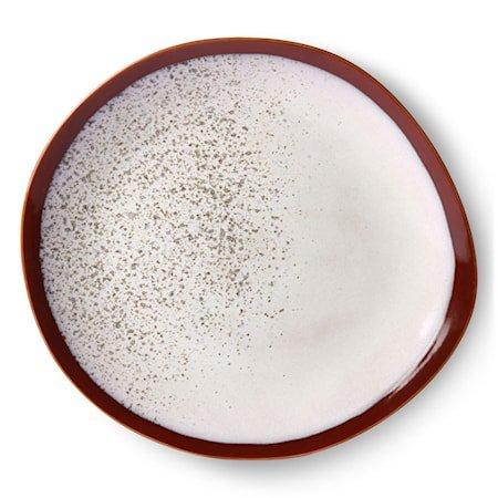 Ceramic 70's Tallerken Frost