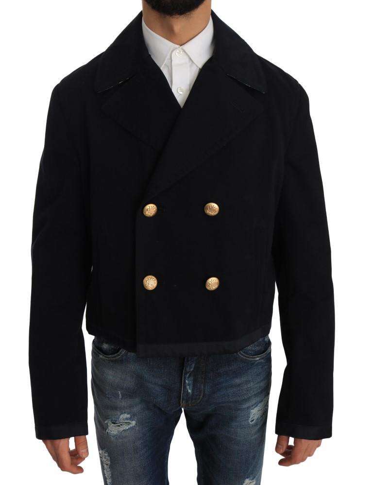 Dolce & Gabbana Men's Cotton Stretch Jacket Coat Blue JKT1171 - IT52 | L