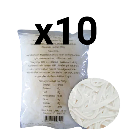 10 x Shirataki Fettucini, 200 gram