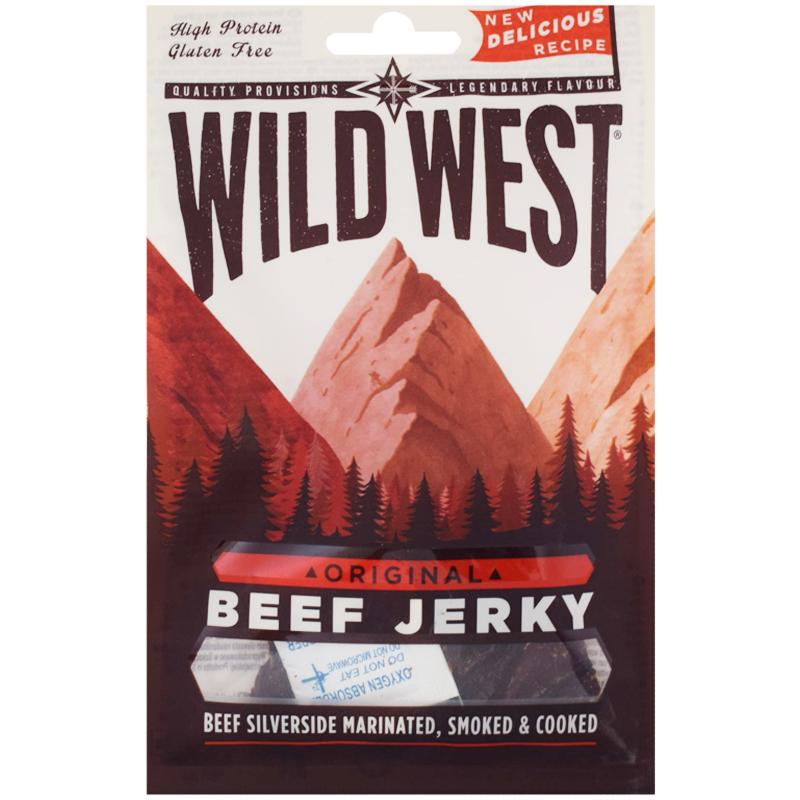 """Kött """"Beef Jerky"""" 25g - 60% rabatt"""
