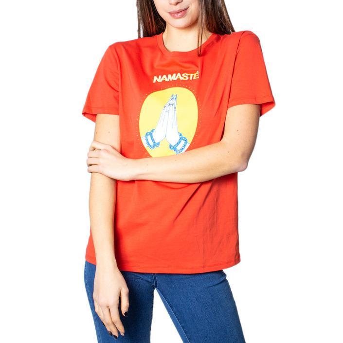 Desigual Women's T-Shirt Orange 171501 - orange M