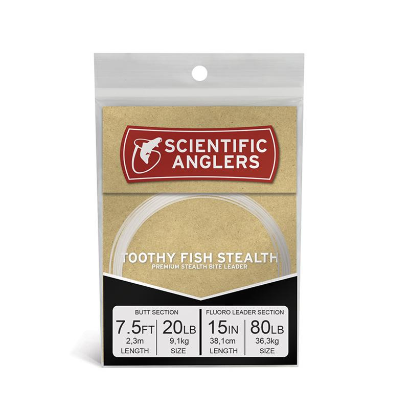 """SA Toothy Fish Stealth Leader 7.5' AR Tapered Leader w/15"""" 80 lb Fluor"""